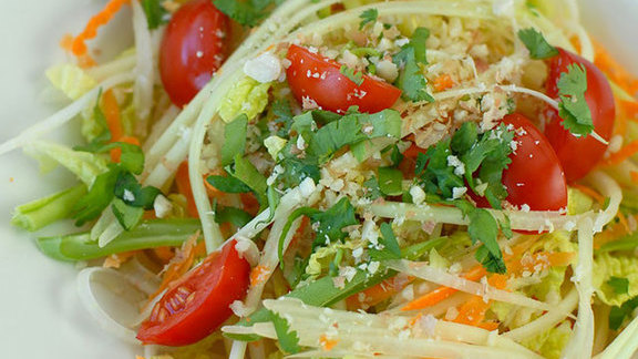 Green papaya salad with salted blue crab at Pure Thai Cookhouse