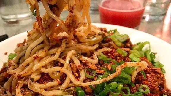 Dan Dan noodle with spicy ground lamb at Ivan Ramen