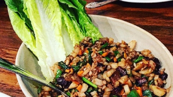 Chef Trevor Kunk reviews Lettuce Cups with Cured Pork at