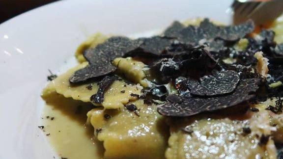 Chef Greg Lutes reviews Seasonal ravioli with Perigord truffles at 3rd Cousin