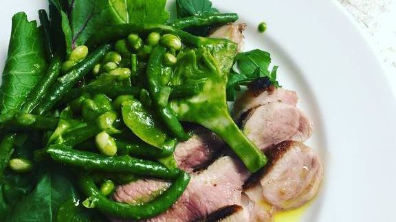 Lamb and greens at Quo Vadis