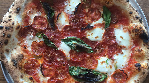Chef Carson Symmonds reviews Calabrese pizza at Bufalina