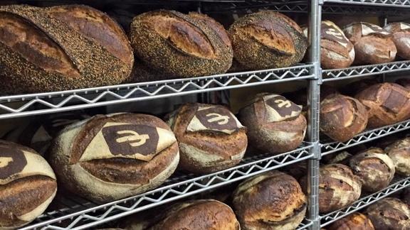 Chef David  Solorzano reviews Pan au levain or any heritage grain loaf at Barrio Bread