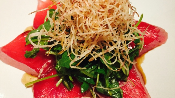 Toro tataki at Sushi Ran