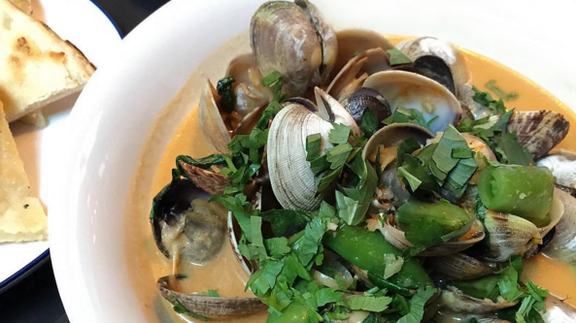 Manila clams at Liholiho Yacht Club