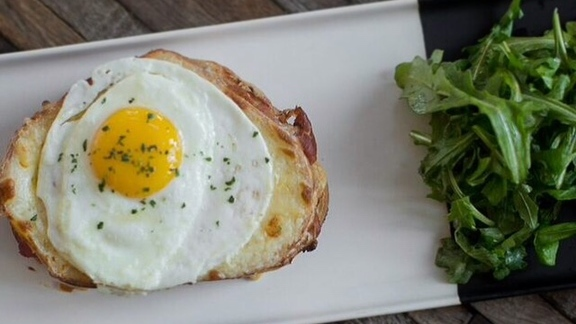 Croque Madame at Bin 707 Foodbar