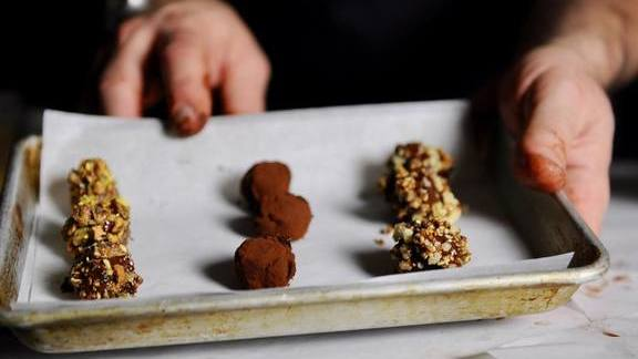 Chocolate truffles at Recchiuti Confections