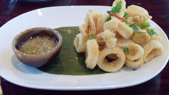 Pla muk tod at Tuk Tuk Thai Food Loft