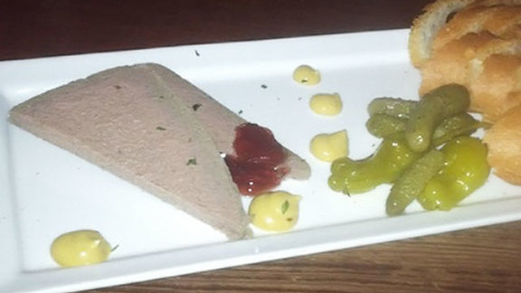 Duck liver mousse at Enoteca Vespaio