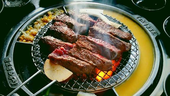 Boneless short rib at Kang Ho Dong Baek Jeong