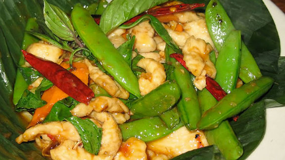 Spicy  basil chicken at Burma Superstar