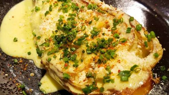 Chef Leo Pablo reviews Smoked cone cabbage, dried Louisianna shrimp, Chardonnay vinaigrette at Upland