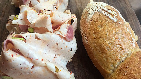 Chef Brian Fernando reviews Charcuterie board at