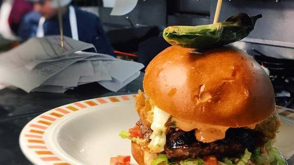 Chile relleno burger at Border Grill