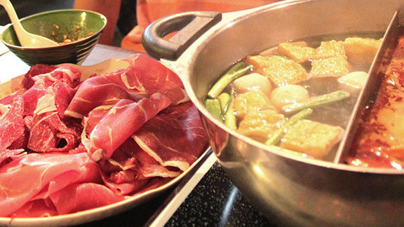 Hot pot at Gourmet Noodle Bowl
