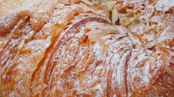 Almond croissant at Baguette et Chocolat
