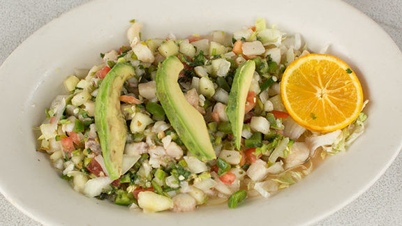 Ceviche at Polvos Mexican Restaurant