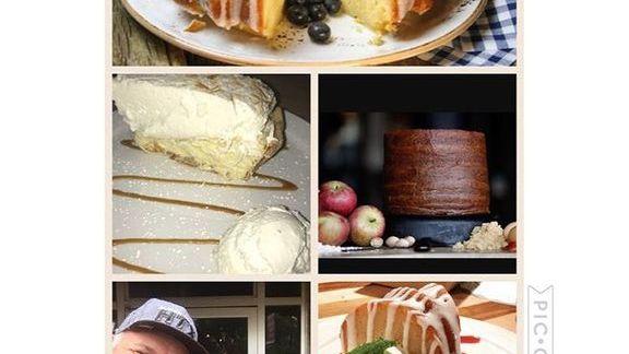 Bundt cake, pie, and chocolate cake at Food Glorious Food