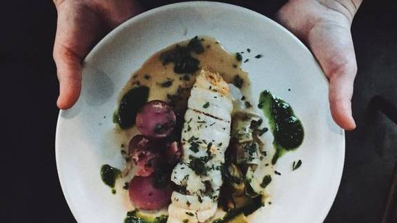 Chef Jason French reviews Sole, leek, potato, sauce verte, and crab at Ned Ludd