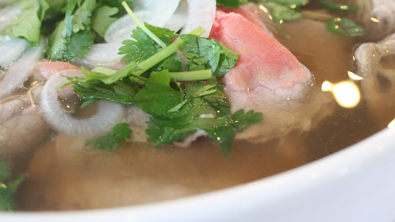 Comination pho at Cafe Thuy Van