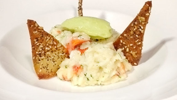 Chef Joshua Breen reviews Maine lobster risotto at