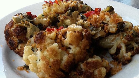 Spicy cauliflower at Pizzeria Delfina