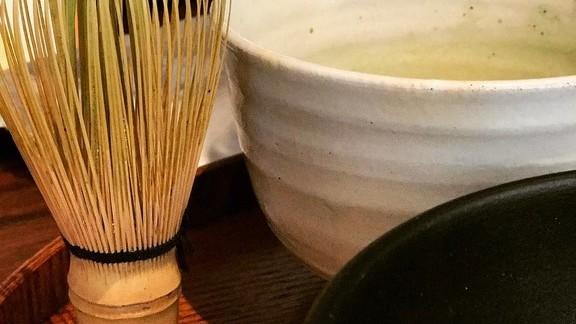 New matcha dish at Atelier Crenn