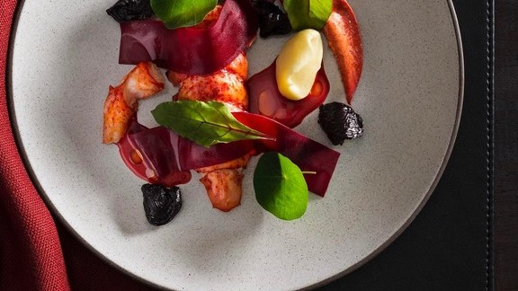 Lobster and Beets at The NoMad Restaurant