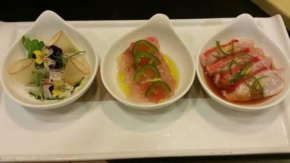 Chef Shane McAnelly reviews Beltfish and Golden eye snapper crudo at Chalkboard