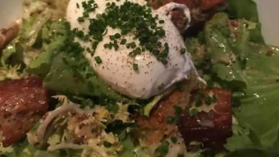 Lyonnaise salade at Bouchon Bistro