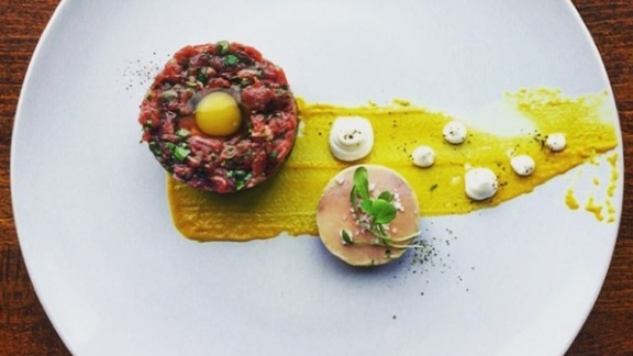 Beef Tartar at Enoteca