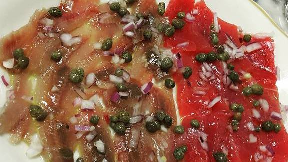 Crudo with sardines and tuna at Swan Oyster Depot