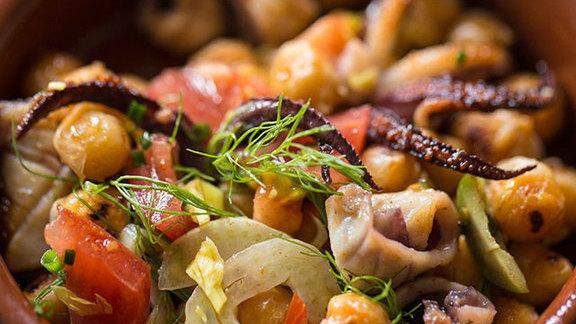 Sautéed calamari at Shakewell