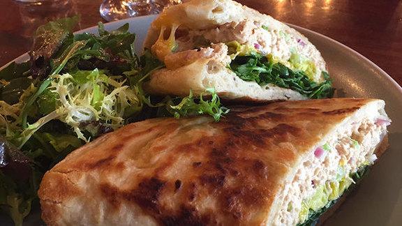 Tuna melt piadina at Della Fattoria Café