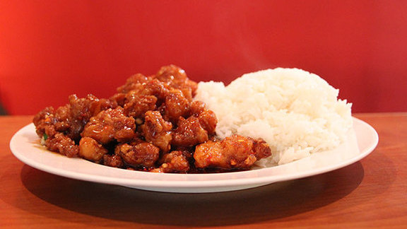 General Tso's spicy boneless chicken at Red Jade