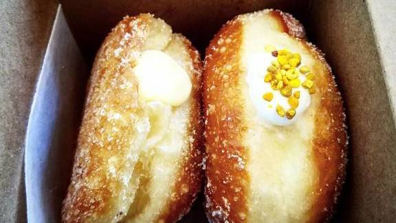 Lemon curd and honey  yogurt donuts at General Porpoise