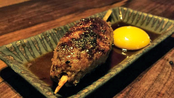 Tskune (Chicken Meatball) with Egg Yolk at Ippuku