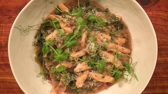 Chef Max MacKissock reviews Spring ribollita and cavatelli pasta at Bar Dough