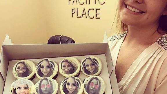 Selfie cupcakes at Trophy Cupcakes