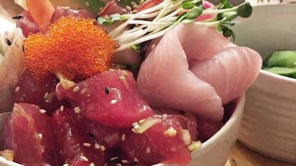 Ahi poke bowl at Miso Phat Sushi