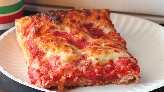Grandpa's Sicilian pizza at Pino's La Forchetta