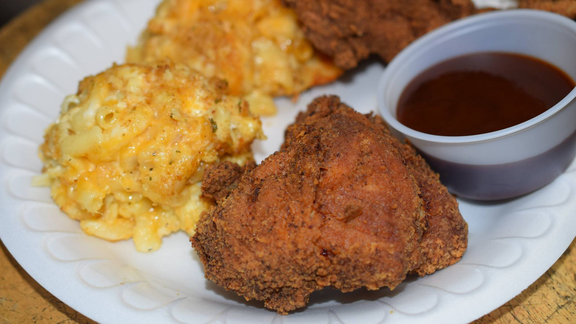 Fried chicken at Coast Café