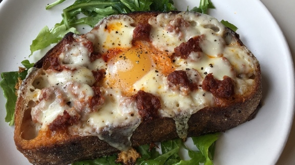 Duck Egg Toast at Winsome