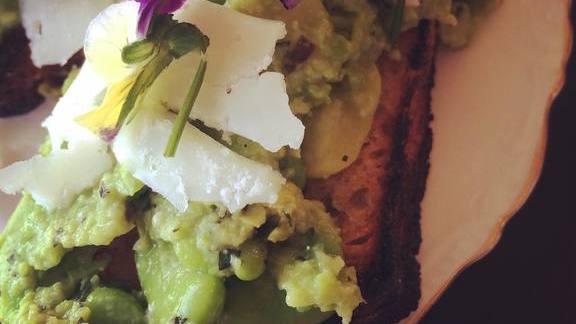 Avocado toast at Bantam
