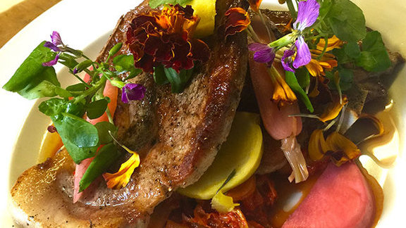 12 oz. Marin Sun Farms pork blade steak at Serpentine