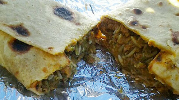 Punjabi burrito at Avatars Restaurant