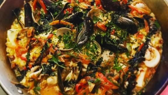 Seafood paella at SELECT Oyster Bar