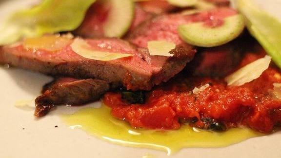 San marzano, beef, oregano and hot pepper at Five Dot Ranch