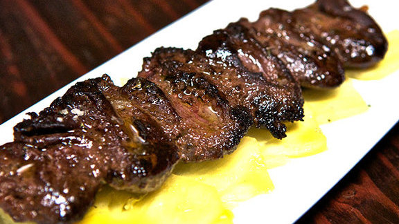 Chef James LaLonde reviews Jerk spiced duck hearts at The Alembic