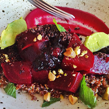Beets and berries salad at Rustic Canyon Wine Bar